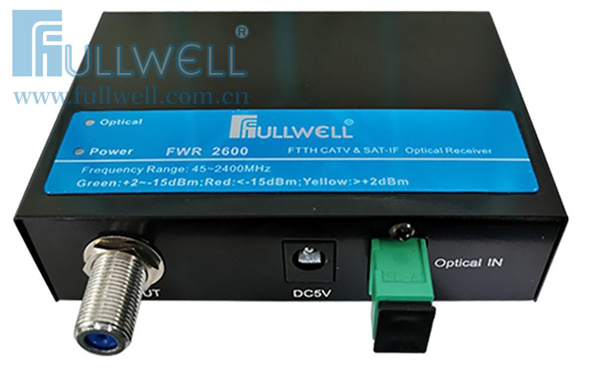 FWR-2600, CATV+Satellite TV Optical Receiver