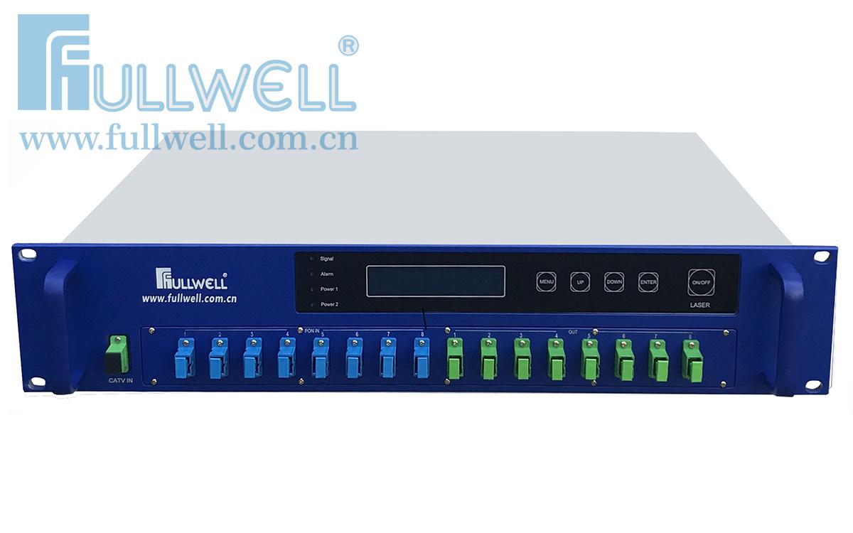 8 ports PON & CATV WDM EDFA